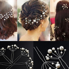20 PCS Cheap Handmade Pearl Wedding Hairpins Beads Hair Sticks With Vine Bridal Vintage Women Prom Hair Accessories Bride Pins