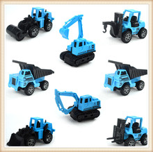 1pcs/Set Random Sent Mini Car Toys Excavator Tractor Crane Diecasts Big Truck Vehicles Models Classic Cars Children Kids Toys(China)