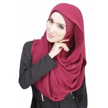 Chiffon Women Muslim Sheer Long Hijab Maxi Islamic Scarf Headwear Anti-Dust New