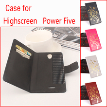 For Highscreen Power Five Phone Case Folio Flip Premium Pattern PU Leather Wallet Case Cover with Cash and Card Slots tangjin