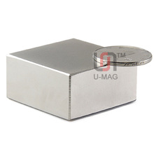 Free shipping Super Strong Rare Earth magnets 2pcs Block 40x40x20mm N52 Neodymium Magnet high quality