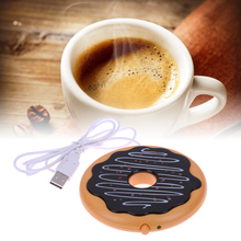 Donut Cup Warmer Electronic Cookie Mug Warmer Cute Hot Coaster Office Tea Coffee Heater Heating Pad Lightweight with USB Cable