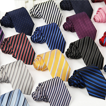 Trendy fashion neckties for men formal business causal neckties cheap price stripped pattern(China)