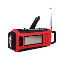 Digital Emergency Solar Hand Crank Radio FM/AM/NOAA Weather Radio with LED Flashlight & Phone Charger Y4411C