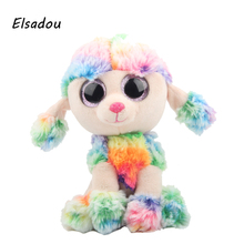 Elsadou Ty Beanie Boos Stuffed & Plush Animals Colorful Poodle Doll Toys For Children(China)