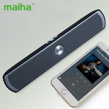 Maiha Original Mini Portable Bluetooth Stereo Speaker Good Bass HIFI Sound Speakers TF AUX USB FM Radio Built-in Mic Hands-free(China)