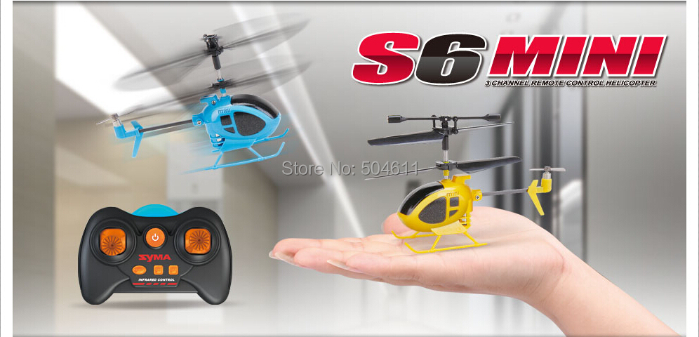 Syma S6 3CH RC Mini helicopter Drone with GYRO remote control toys the world smallest helicopter(China (Mainland))