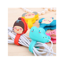 2PCS NEW Mini Cute Cartoon Earphone Button Cable Winder Charging Wire Cord Organizer Holder for iPhone Android Computer Cable(China)