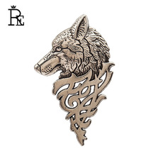 Vintage British Wolf Brooches Suit Lapel Suit Pin Badge  For Men Domineering Wolf Pins Personality Fashion Precious Gift