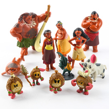 Fast Ship 120Pcs/Set Moana PVC Princess Toy Maui Heihei Adventure Action Figures Collection Dolls Party Decoration Supply Gift