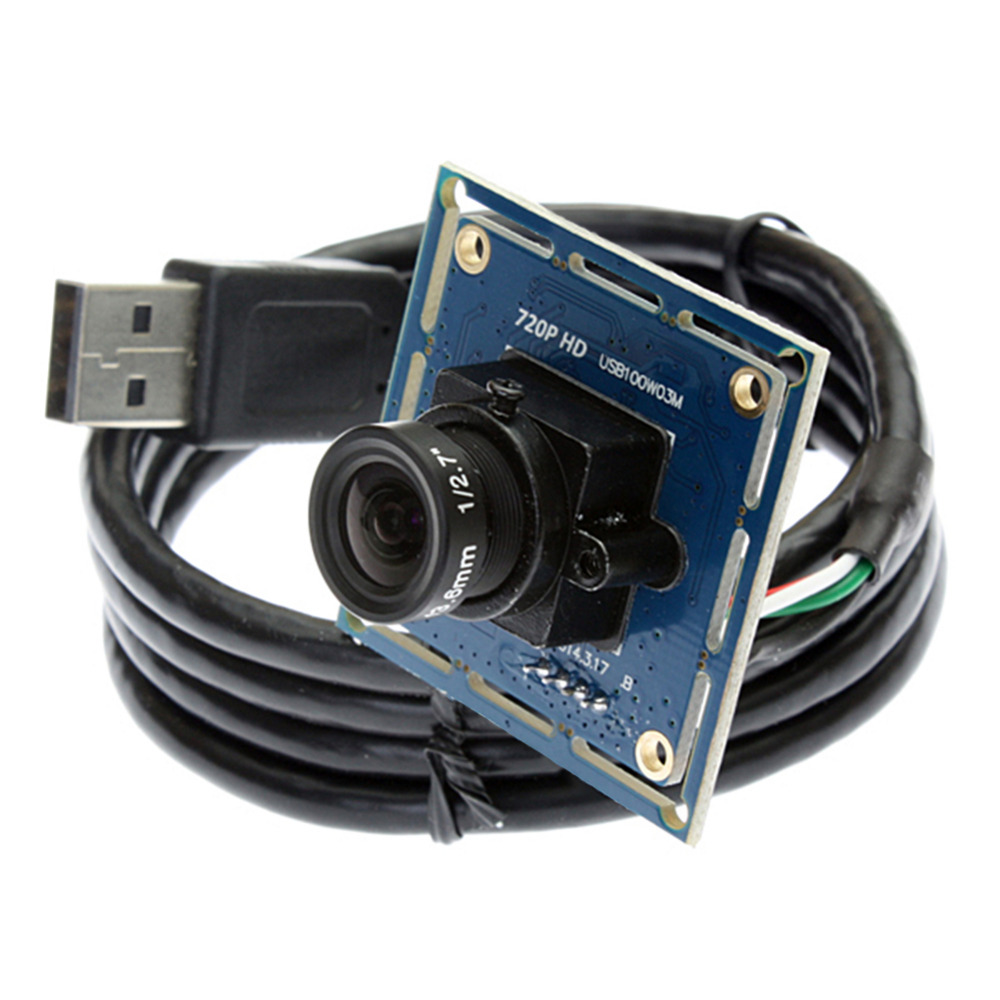 1.0 Megapixel OV9712 720P HD mini usb camera  android 2.8mm lens MJPEG/YUY2 CMOS board UVC Camera module for Windows,Linux,MAC<br>