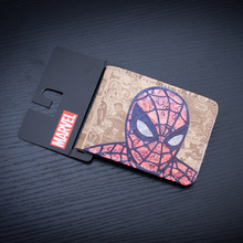 Wholesale Spider Man Leather Wallet Casual Brand Men Women Anime carteira Purse Money Bags billeteras Anniversary Gift Wallets(China)