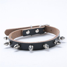 Black/Brown Rivet Spiked Studded Pet Collar Cute Cat PU Leather Small Dog Buckle