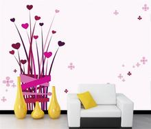 3D wallpaper/custom photo wall paper/manual Flower arranging Red hearts/TV/sofa/Bedding/KTV/Hotel/living room/Children(China)
