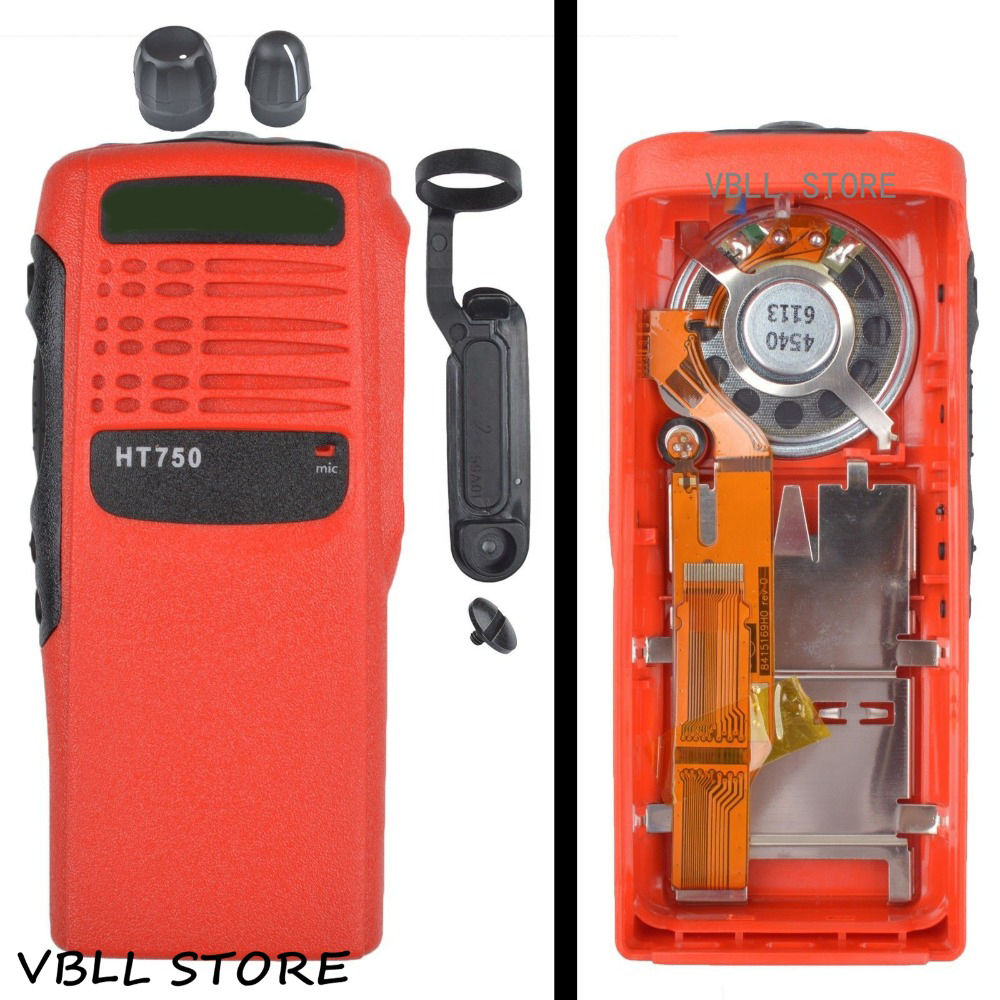 Red Replacement Repair Case Housing for Motorola HT750 Portable Radio
