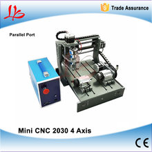 Mini CNC Woodworking Machine CNC2030 4 Axis CNC Wood Router Engraver with Parallel Port for PCB Drilling(China)
