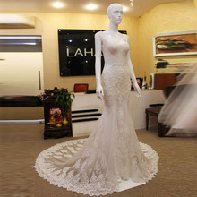 Sexy Lace Wedding Dress Cap Sleeves Pearls Beadings Mermaid Wedding Dresses 2016 Robe De Mariee China Online Store Bridal Gown