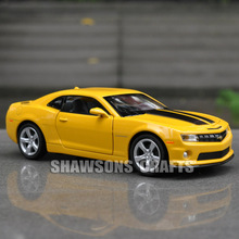DIECAST METAL 1:32 MODEL TOYS PULL BACK CAR CHEVROLET CAMARO BUMBLEBEE SOUND & LIGHT