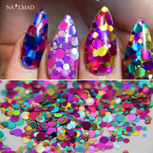 2g/box 1mm 2mm 3mm Mixed Glitter Nail Holographic Glitter Acrylic Glitter Mixes Holo Sequins Round Glitter
