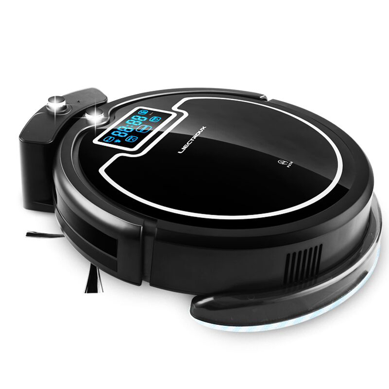 (Russia Discounts) Wireless Auto Robot Vacuum Cleaner For Home with Water Tank,Wet&Dry, Big Mop, Schedule,UV lamp, HEPA filters(China (Mainland))