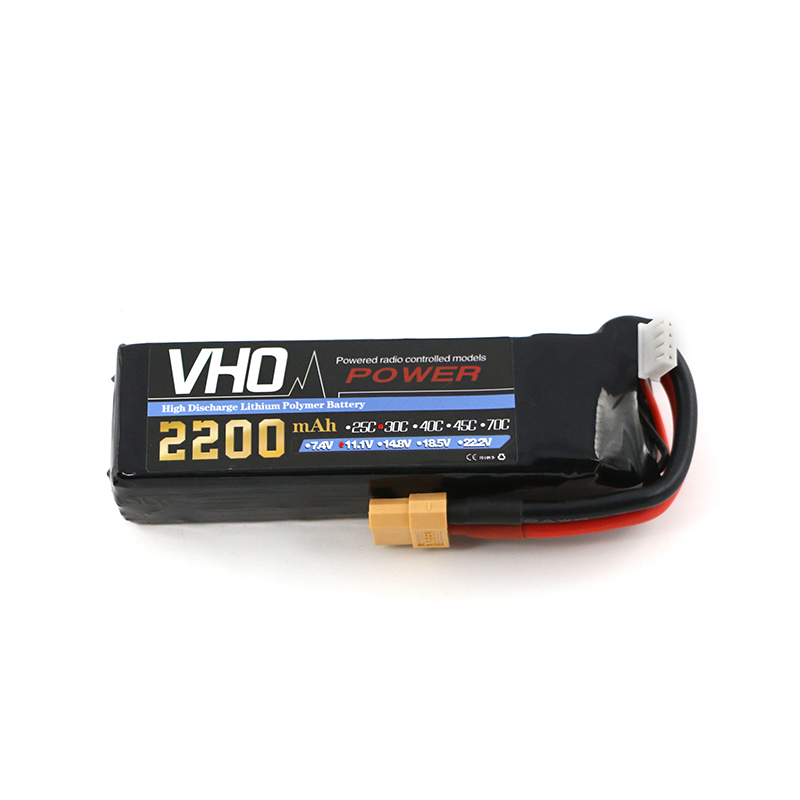 VHO JST RC lipo battery 11.1v 2200mAh 30C 3s To XT60 1pcs for RC airplane battery factory-outlet goods of consistent quality<br>