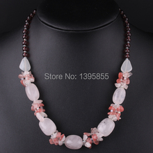 New Fashion Jewelry Crystal Necklace Statement Nature Stone Free Shipping Milky White