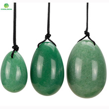 Natural Green Aventurine Eggs Crystal Yoni Egg for Women Health Care Kegel Exercise Massager Sexy toys(3pcs/set)