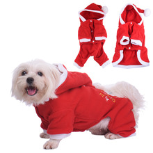 Christmas Couple Pet Winter Clothes Dresses Sweater Hoodies Four-Feet Jumpsuits For Puppy Kitten Christmat Leisure Wear Apparel
