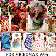Silicone soft tpu Phone Cases for Micromax A94 A104 Canvas Fire 2 A093 A107 A79 AQ5001 D303 Q380 E313 D320 D303 Q392 bag Flowers