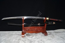 Sales Kill Bill  Full Tang Sword Handmade Japanese Sword 1060 high carbon steel very sharp can cut bamboo tree