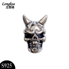 Free shipping cool accessories 925 silver skeleton stud earring single personality girls boys accessories small ears jewelry(China)