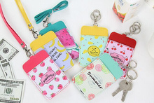 Novelty NEW Summer Fruits 11*7CM - Neck Hanging & Key Hook BUS & ID Card Holder Case Pouch BAG Holder