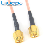 10 Pieces Extension Cable SMA Male Plug to SMA Male Plug Connector Adapter Pigtail Coaxial Cable RG316 10CM,15CM,20CM, 1M,2M,3M