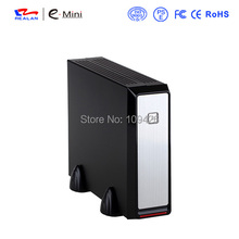 Realan Emini 2019 Vertical Small PC Case With 2.5HDD USB Audio Ports Horizontal Mini PC Box