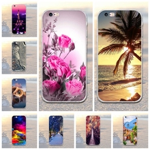 Ultra Soft TPU Case for iphone 6 6s Flower Plants Cartoon Pattern Soft Silicone Phone Case For iPhone 5 SE Fundas Cover 6 Plus 7(China)