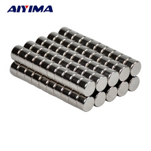 AIYIMA 100pcs D8*5mm Powerful Round Magnets 8x5 Rare Earth Neodymium Magnets 8mm*5mm Counter Magnetic Tape Crafts Magnetite 8*5