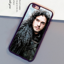 Jon Snow Game of Throne Printed Mobile Phone Case For iPhone 6 6S Plus 7 7 Plus 5 5S 5C SE 4S  Soft Rubber Skin Back Shell Cover