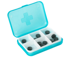 Cross 6 case packs Imported household portable carry capsule pills receive a box to send the old friends
