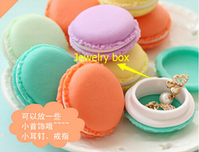free shipping wedding decoration Macaroon Mini Jewelry Box Carry on portable Debris storage box Kit #5173  Z1