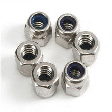 5pcs Metric M16 304 Stainless Steel Hex Head Nylon Insert Lock Jam Stop Nuts(China)