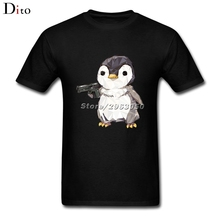 Cubic penguin power T Shirt Men Man's Designer Short Sleeve Crewneck Cotton 3XL Couple T Shirts(China)