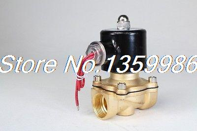 2way2position  AC220V 3/4 Electric Solenoid Valve Water Air N/C Gas Water Air<br>