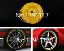 8 Meter x Universal Car Wheel Trim Alloy Wheel Arch Protector Rim Guard Adhesive Roll Car Styling Car stickers Automotive trim(China)