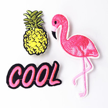 Bovvsky Handmade collar brooch set Flamingo Embroidery Badge Brooch Pin Bag Jacket Pin Decoration Jewelry for women Brooch Pins