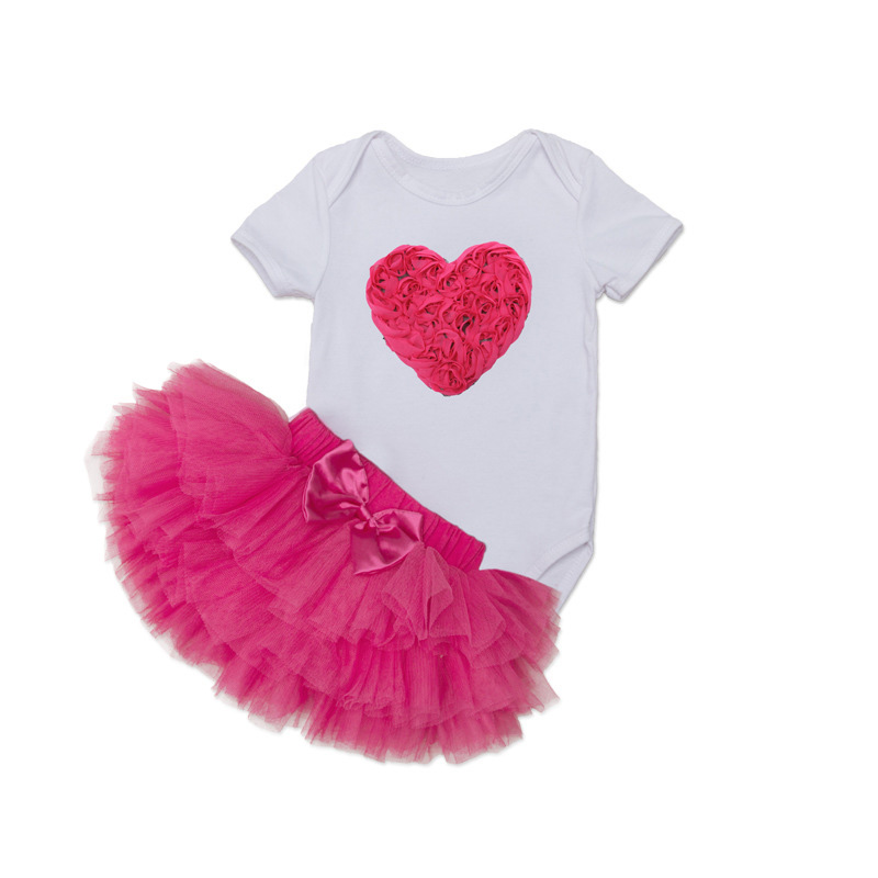 Tutu Baby Birthday Set Summer Short Sleeve Roupas Infantis Bebes 1st Birthday Outfit+Tutu Pettiskirt Dress Party Clothing Sets 17