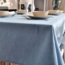 1 Piece Classic Thickening Solid Color Linen Table Cloth/ Decorative Tablecloth Tea Table Cloth/ Modern Tablecloth Cover Towels