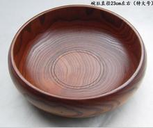 diameter 18cm 20cm 23cm Wood Bowl Instant Noodles Tub Fruit Large Wooden Bowl  Fruit Bowl