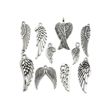 Mixed Tibetan Silver Plated Angel Fairy Wings Charms Pendants Jewelry Making Accessories Diy Jewelry Findings Zinc Alloy m015
