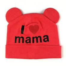 Sweet I Love Mama Beenies Baby Beenies Toddler Beenies Skullcap Winter Hat Infant Skull Cap Toddler Skullcap(China)