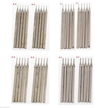 40Pcs 0.4 0.5 0.6 0.8mm Diamond Hole Saw Drill Bit Set Coated Solid Bits Masonry Drilling Jewelry Tools For Stone Gemstone(China)